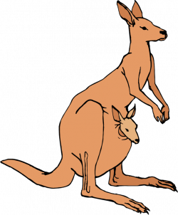 Wallaby clipart joey