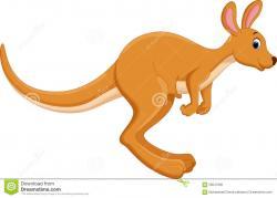 Wallaby clipart cartoon