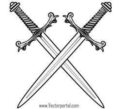 Victorian clipart sword