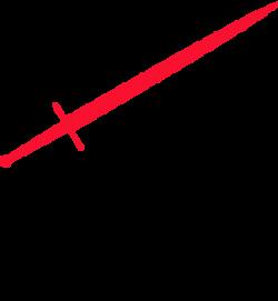 Katana clipart red