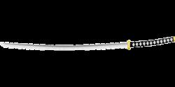 Katana clipart samurai sword