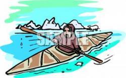 Kayak clipart inuit