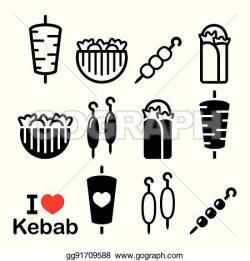 Kebab clipart pita bread