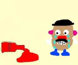 Ketchup clipart spilt