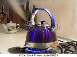 Kettle clipart gas stove