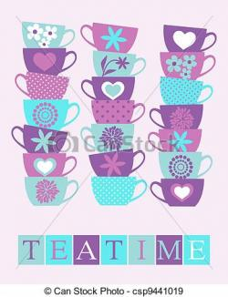 Teapot clipart teacup stack