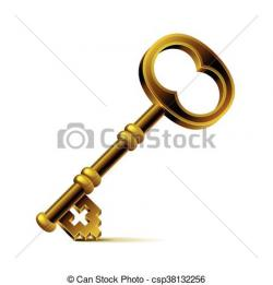 Key clipart bronze
