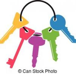 Key clipart bunch key