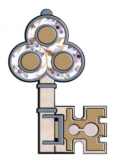 Key clipart castle