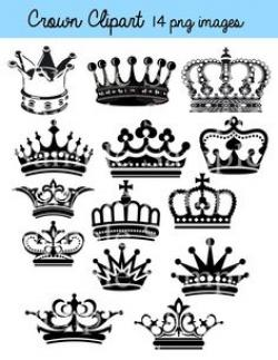 Crown clipart shabby chic