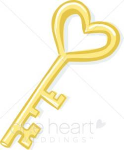 Key clipart heart shaped