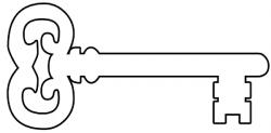 Key clipart key outline