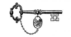 Key clipart old fashioned