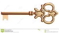 Key clipart old gold