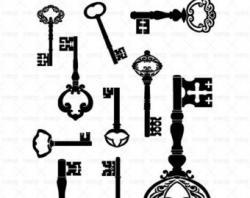 Key clipart printable