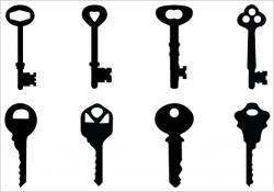 Key clipart silhouette