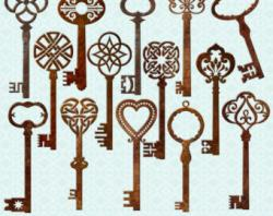 Key clipart vintage key