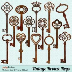 Bronze clipart key