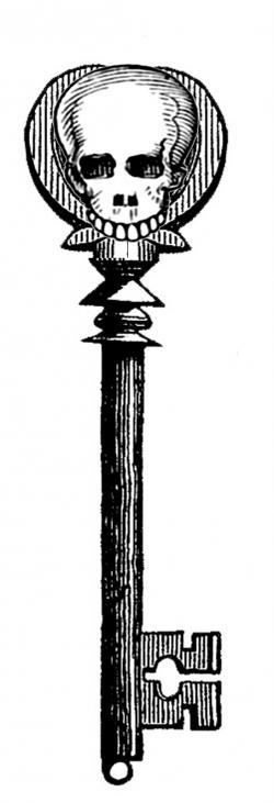 Pixel clipart skeleton head