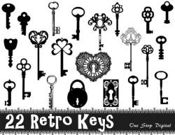 Lock clipart skeleton