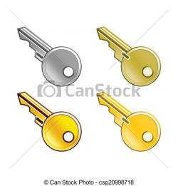 Key clipart yellow object