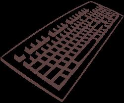 Keyboard clipart clear