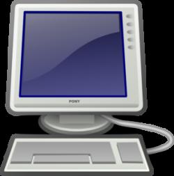 Screen clipart monitor keyboard