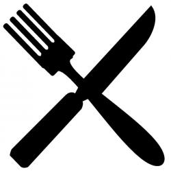 Knife clipart black fork