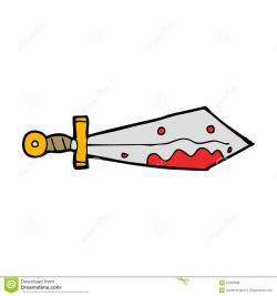 Knife clipart bloody sword