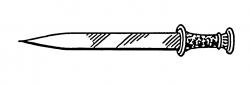 Dagger clipart simple