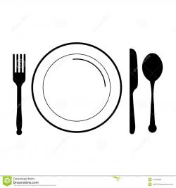Plate clipart plate silverware