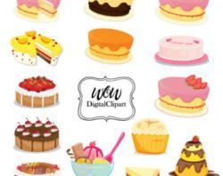 Chocolate Cake clipart bakery item