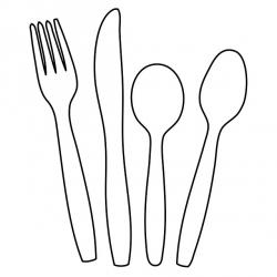 Drawn fork outline