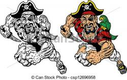 Pirate clipart running