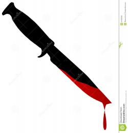 Dagger clipart blood