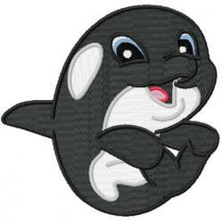 Orca clipart cute baby