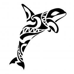 Orca clipart tribal