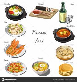 Kimchi clipart korean food