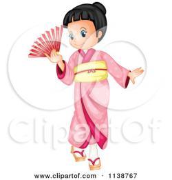 Kimono clipart cartoon