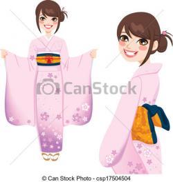 Kimono clipart japanese kimono
