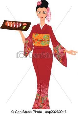 Kimono clipart japanese person