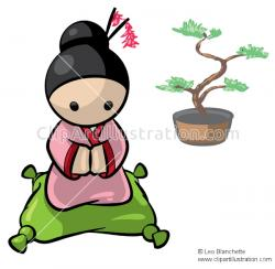 Bonsai clipart cartoon