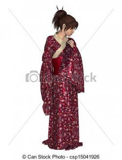 Kimono clipart spanish woman