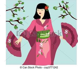 Kimono clipart spring