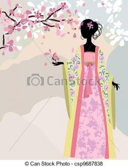 Kimono clipart vector