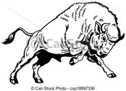 Bison clipart mascot