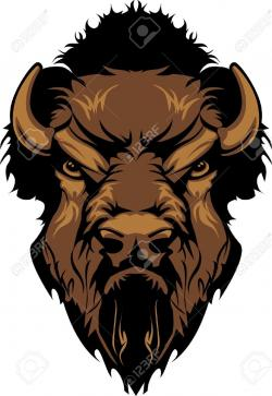 Bison clipart angry