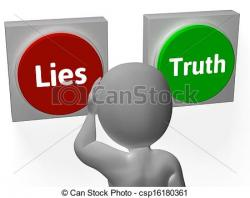 Lies clipart truthful