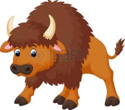 Bison clipart cartoon