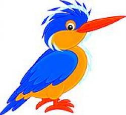 Kingfisher clipart cute